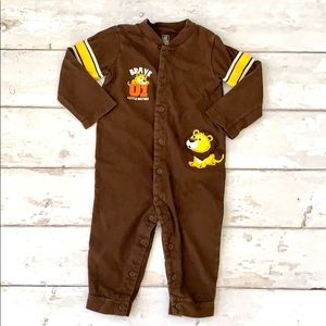 Carters Baby Boy Romper Brown Lion Brother 18m